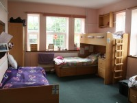 Typical triple bedroom, junior school (8-11 years)