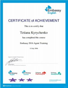 Embassy agent training